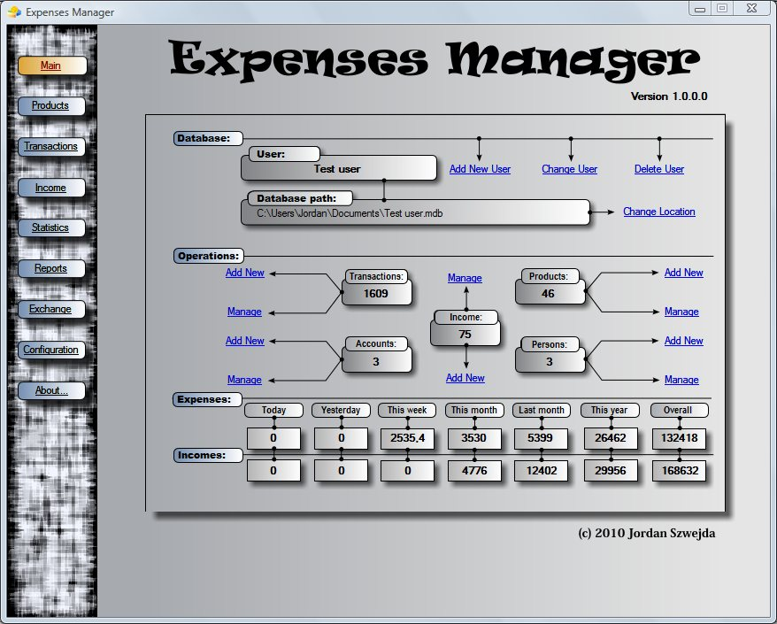 Expenses Manager freeware